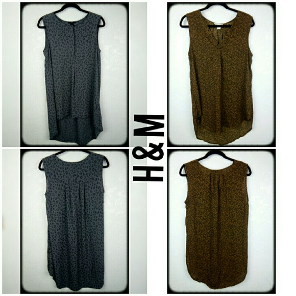H&M Tops - 2 H&M semi sheer high low tank top tunics